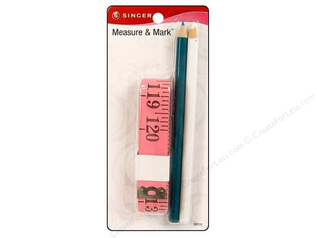 Singer Notions Tape Measure & Mark Set 2 Pencil
