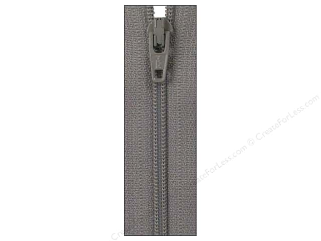 Atkinson Designs Zipper 14 in. Grey Kitty by YKK