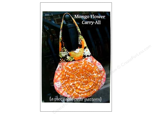A Pieceable Pear Mongo Flower Carry All Pattern