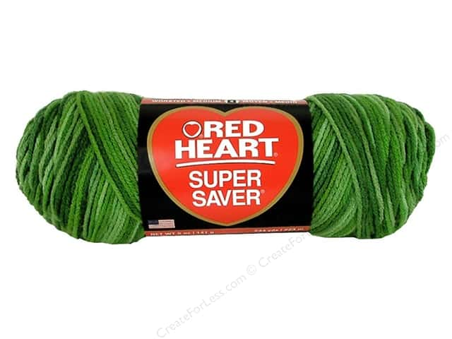 Red Heart Super Saver Yarn #629 Green Tones 5 oz.