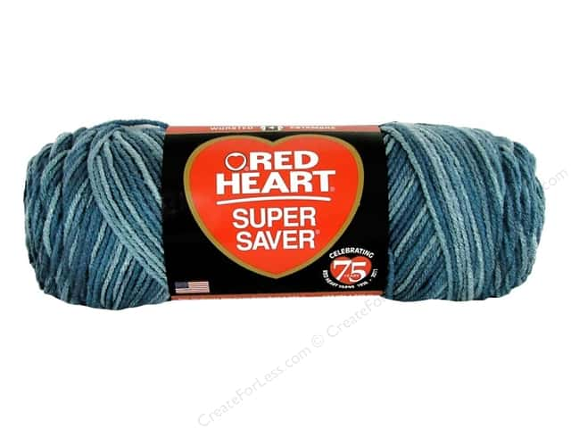 Red Heart Super Saver Yarn #847 Blue Tones 5 oz.