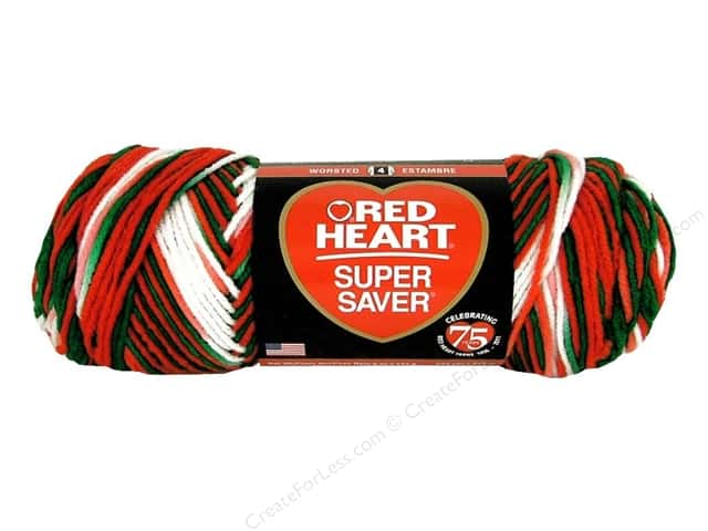 Red Heart Super Saver Yarn #979 Mistletoe 5 oz.