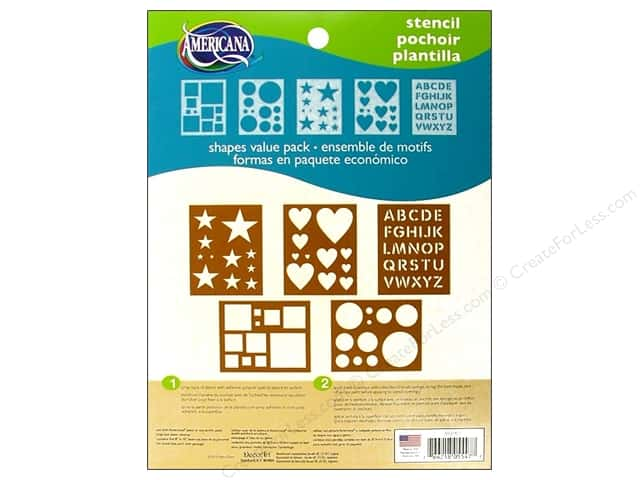 "DecoArt Stencil 8""x 10"" Shapes Value Pack"