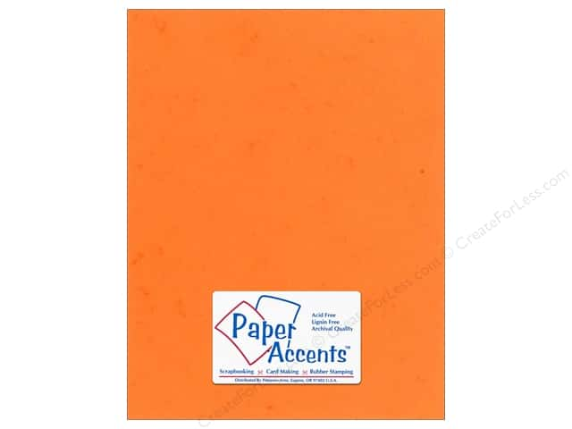 Cardstock 8 1/2 x 11 in. #297 Butcher Orange by Paper Accents (25 sheets)