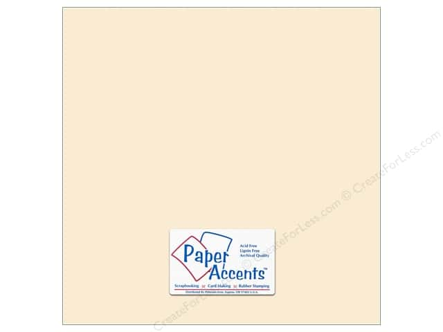 Cardstock 12 x 12 in. #295 Butcher Cream by Paper Accents (25 sheets)