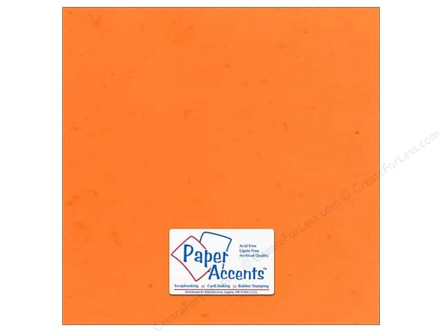 Cardstock 12 x 12 in. #297 Butcher Orange by Paper Accents (25 sheets)