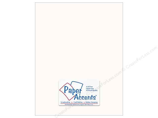 Cardstock 8 1/2 x 11 in. #294 Butcher White by Paper Accents (25 sheets)