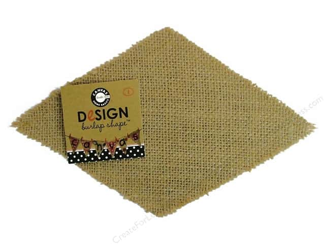 Canvas Corp Blank Shape Burlap Diamond
