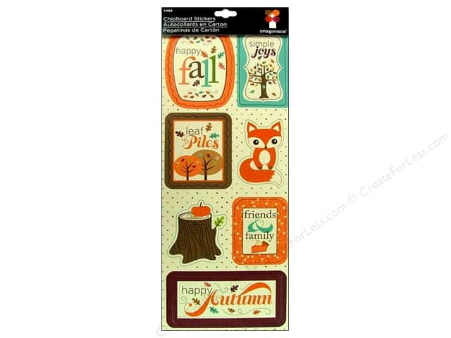 Imaginisce Stickers Happy Harvest Chipboard Happy Fall