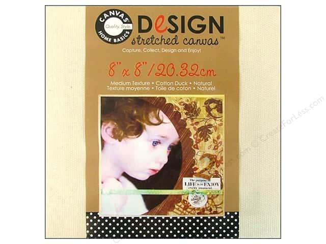 Canvas Corp Stretched Canvas 8 x 8 in. Natural