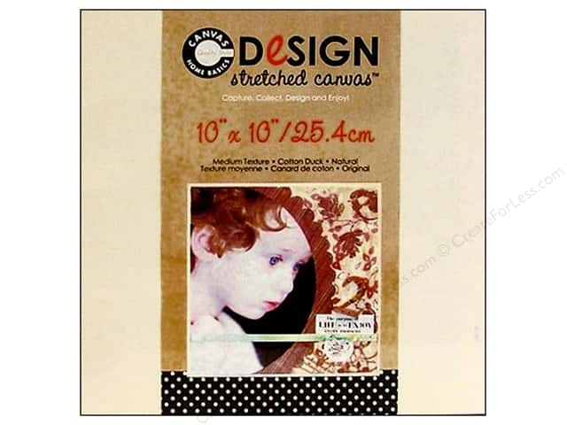 "Canvas Corp Blank Stretched Canvas Natural 10""x 10"""
