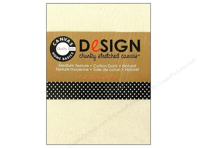 "Canvas Corp Blank Stretched Canvas Chunky Natural 5""x 7"""