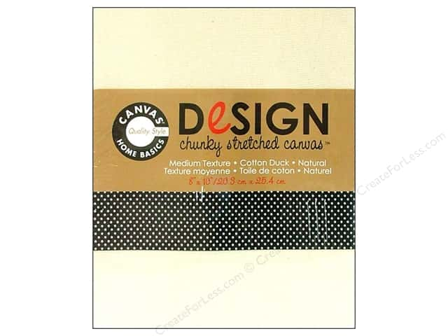 "Canvas Corp Blank Stretched Canvas Chunky Natural 8""x 10"""