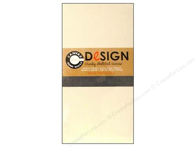 "Canvas Corp Blank Stretched Canvas Chunky Natural 12""x 24"""