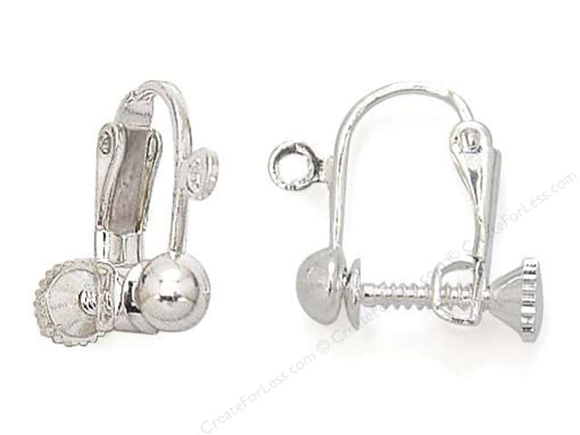 Sweet Beads Fundamental Finding Earrings Screwback Silver 4pc