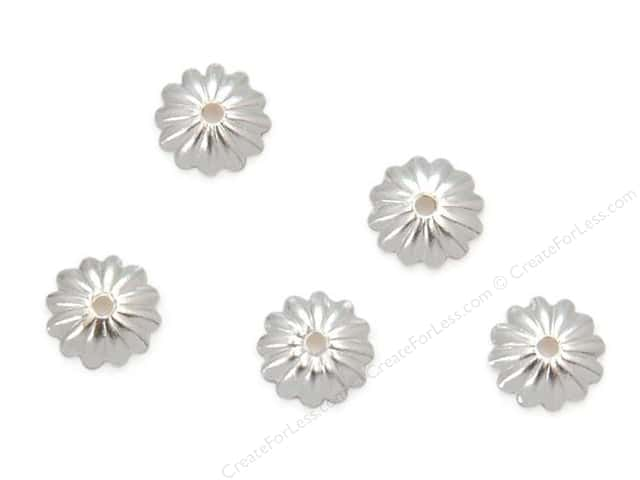 Sweet Beads Fundamental Finding Cap 6 mm Fluted Silver 72pc