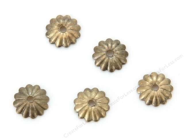 Sweet Beads Fundamental Finding Cap 6 mm Fluted Antique Gold 72pc