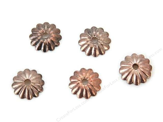 Sweet Beads Fundamental Finding Cap 6 mm Fluted Antique Copper 72pc