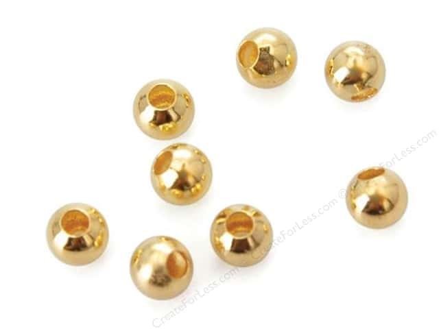 Sweet Beads Fundamental Finding Bead 3 mm Round Gold 165pc