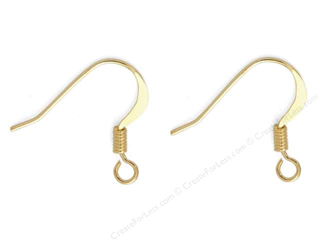 Sweet Beads Fundamental Finding Earwire with Coil Gold 60pc