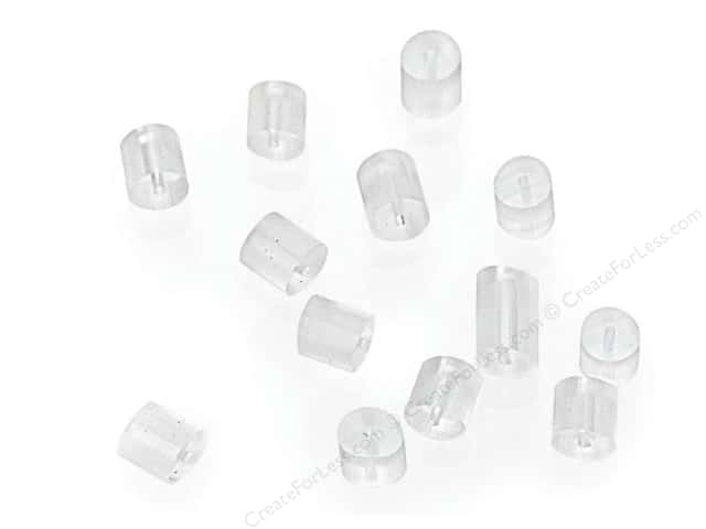 Sweet Beads Fundamental Finding Earnuts Plastic Clear 200pc