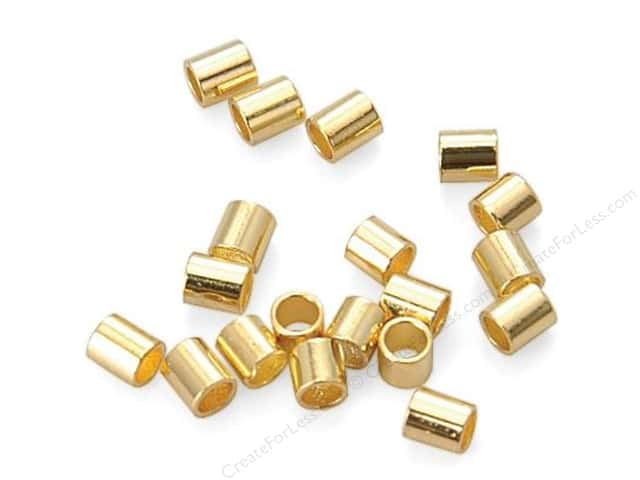 Sweet Beads Fundamental Finding Crimp Tubes 2 mm 300 pc. Gold