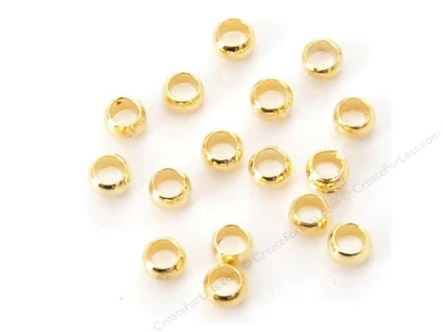 Sweet Beads Fundamental Finding Sweet Bead Crimp Beads 3 mm 144 pc. Gold
