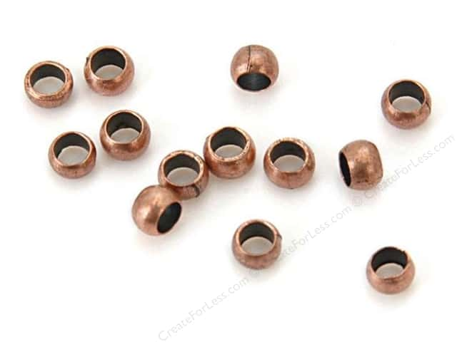 Sweet Beads Fundamental Finding Crimp Bead 3 mm Antique Copper 144pc