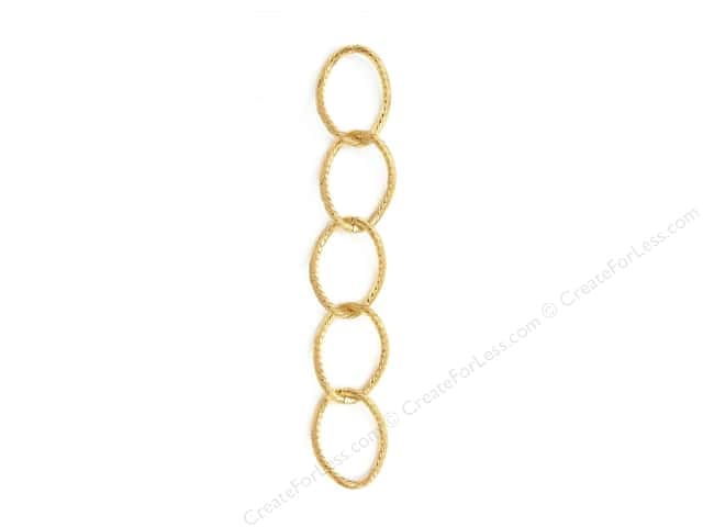 Sweet Beads Fundamental Finding Cable Chain 24 in. Gold