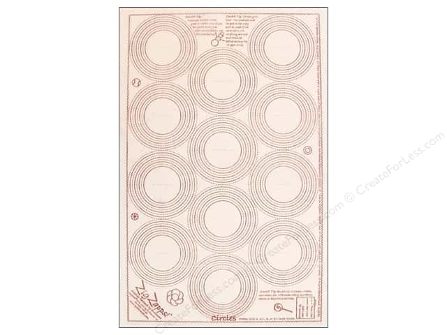 "Quiltsmart Interfacing Zig Zapps Circles 12""x 18"" (50 panels)"
