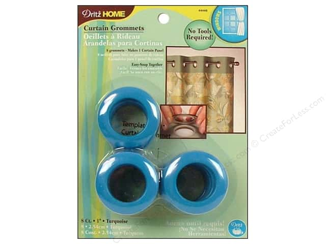 Dritz Home Curtain Grommets Medium 1 in. Round Turquoise 8pc
