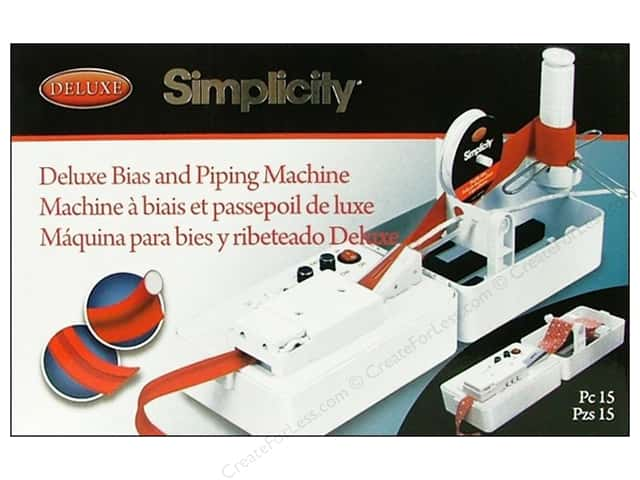 simplicity deluxe bias piping machine