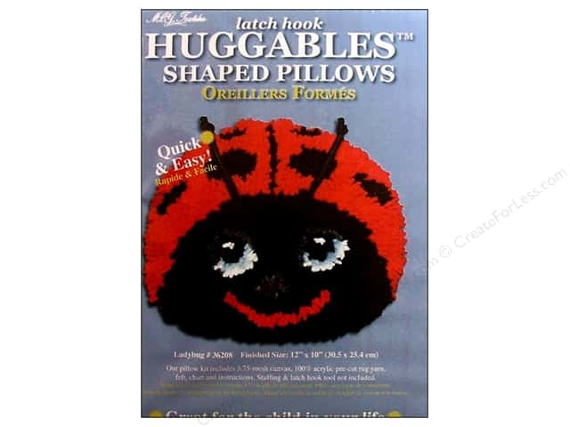 M.C.G Textiles Latch Hook Kit Huggables Ladybug Pillow