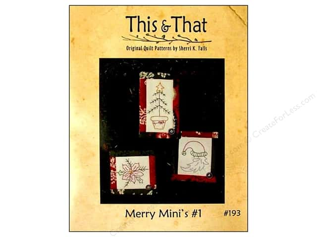 This & That Merry Mini's #1 Pattern