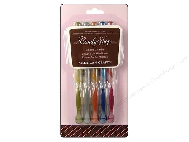 American Crafts Candy Shop Gel Pen Pack Metallic 5 pc.