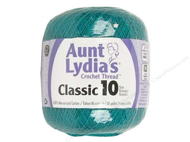 Aunt Lydia's Classic Cotton Crochet Thread Size 10 Peacock