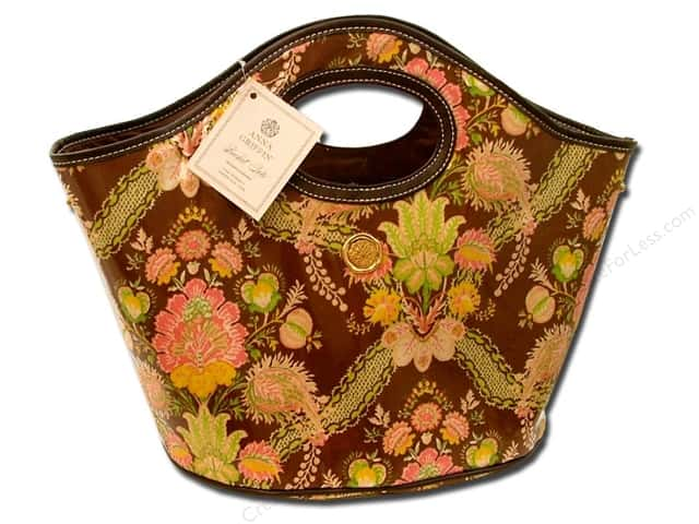 Anna Griffin Fabric Accessories Bucket Tote Carmen Tropicana Brown