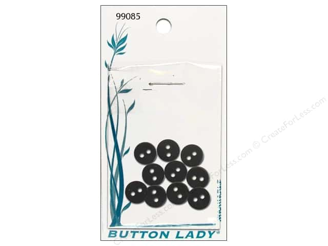 JHB Button Lady Buttons 1/4 in. Black #99085 10 pc.