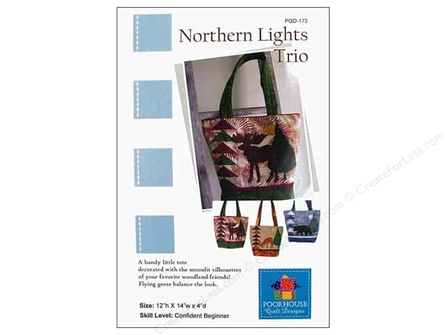 Poorhouse Quilt Design Northern Lights Trio Pattern
