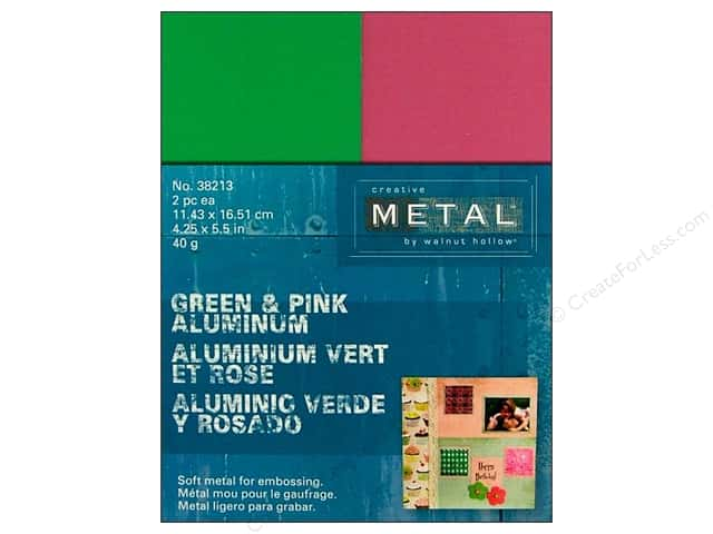 Walnut Hollow Creative Metal Aluminum Rectangles 4 1/4 x 5 1/2 in. Green & Pink