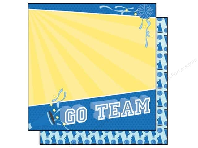 Best Creation 12 x 12 in. Paper Team Spirit Collection Go Team (25 sheets)