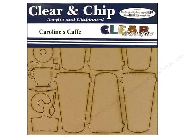 Clear Scraps Album Clear N Chip Mini Coffee Caroline