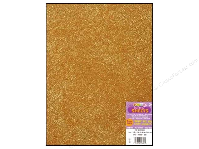 Foamies Foam Sheet 9 x 12 in. Glitter Gold