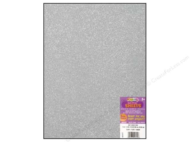 Foamies Foam Sheet 9 x 12 in. Glitter Silver