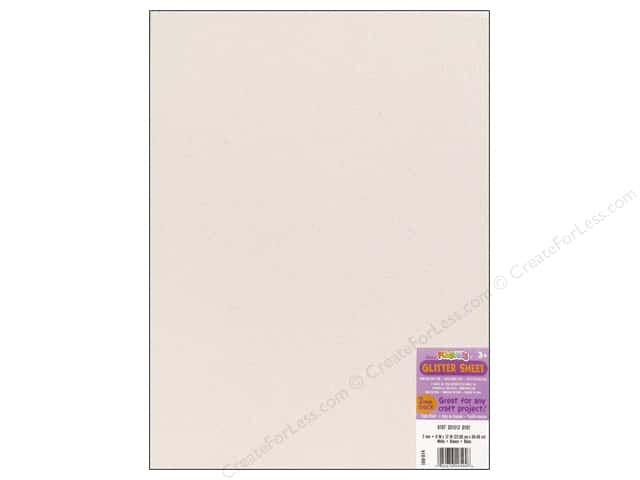 Foamies Foam Sheet 2mm. 9 x 12 in. Glitter White
