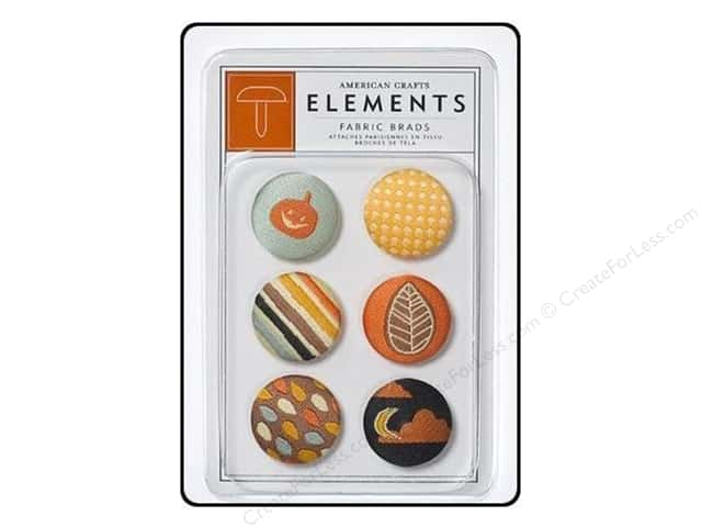 American Crafts Elements Brads Fabric Nightfall