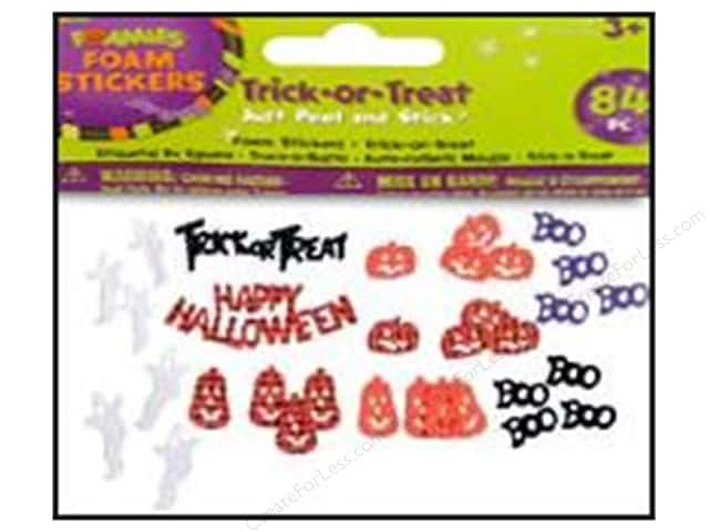 Darice Foamies Sticker Halloween Trick-or-Treat 84pc