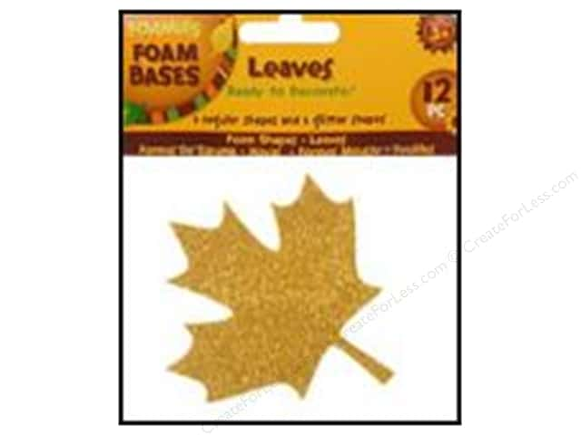 Darice Foamies Base Fall Leaves 12pc