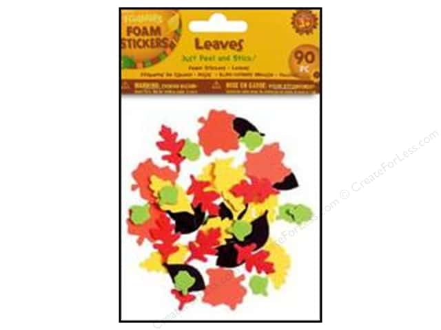 Darice Foamies Sticker Fall Leaves 90pc