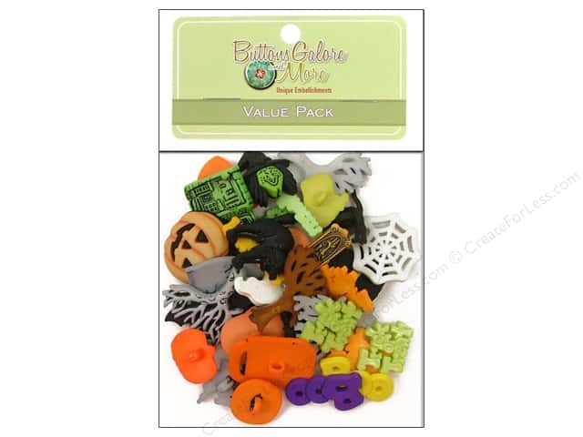 Buttons Galore Value Pack 50 pc. Halloween